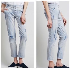 Free People | Mountaineer Distressed Jeans Orchid